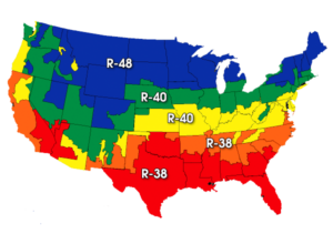 USA R VALUE MAP